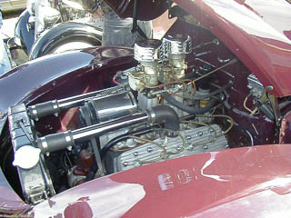 Ford flathead engine with high-rise intake manifold