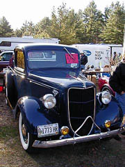 Front view of 1936 Ford pickup truck