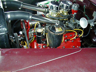 View of 59AB engine in 1946 coupe from the left side