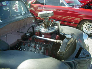Flathead engine with McCulloch super charger