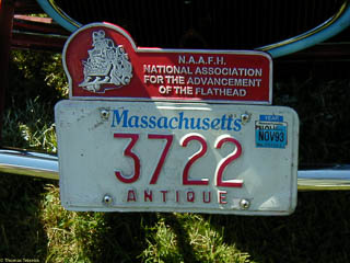 License plate topper for National Association for the Advancement of Flatheads