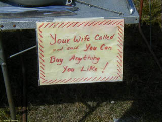 """Your wife called ..."" sign"